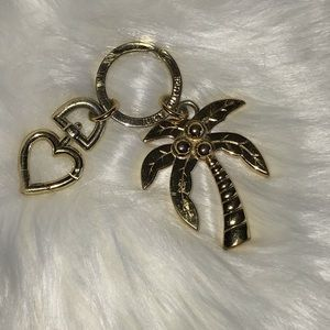 Juicy Couture Palm Tree Gold Tone Key Chain